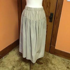 Vintage 80s long prairie earthy western skirt